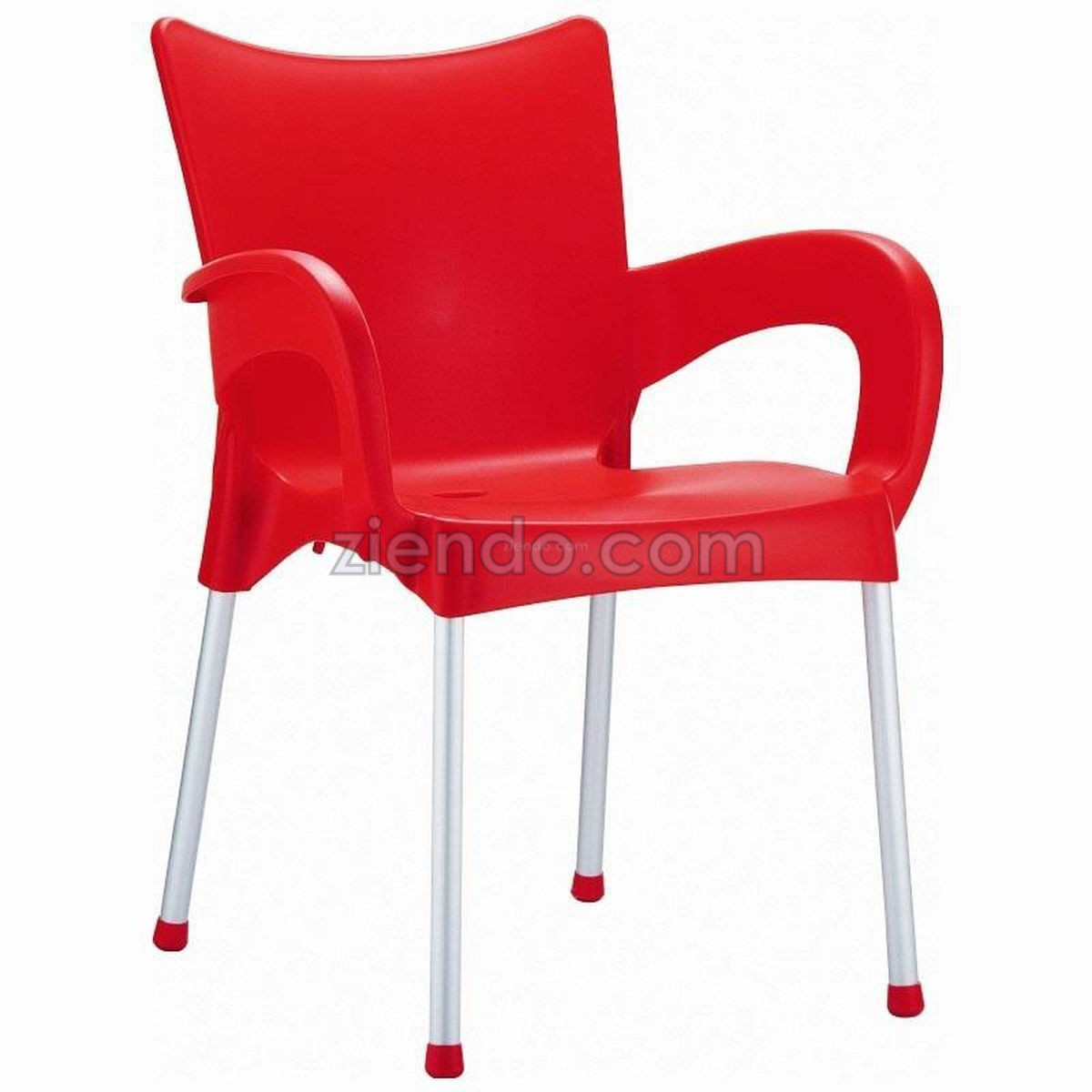 Outdoor Plastic Chair Red