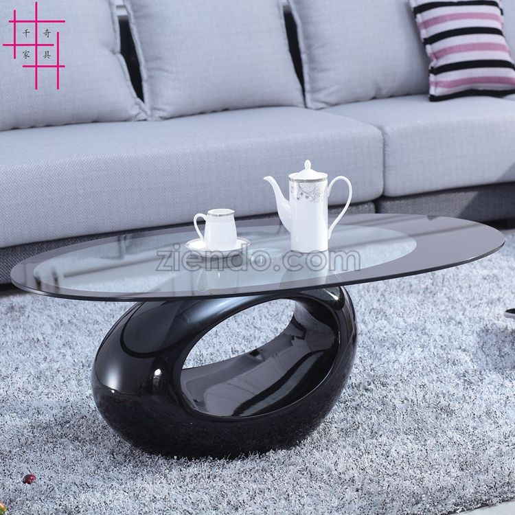 Oval Glass Center Table Ziendo Online Furniture Interiors Shop
